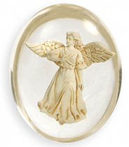 Healing Angel Clear Worry Pocket Stone