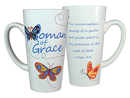 Woman of Grace Latte Mug