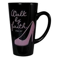 Walk by Faith Latte Mug 16oz