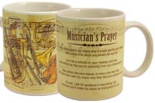 Musician Prayer Ceramic Mug Christian
