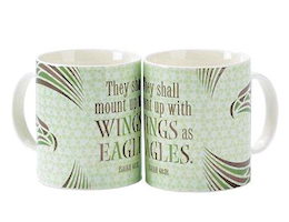 Wings as Eagles Bone China Mug