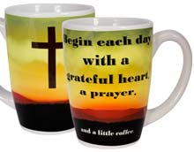 Begin Each Day With A Prayer, Greatfull Heart Mug