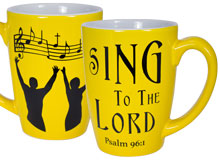 Sing to the Lord Ceramic Mug Palm 96:1 Large