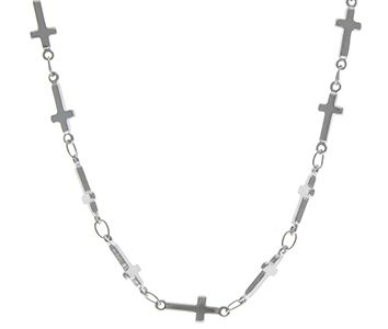 Cross Linked Silver Necklace