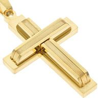 Gold Layered Cross Necklace Stainless Steel