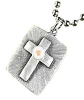 Mustard Seed Cross Dog Tag Necklace