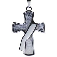 Deacon Cross Stainless Steel Necklace