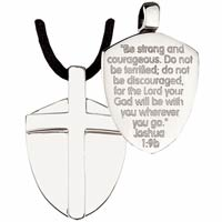 Shield of Courage Stainless Steel Necklace
