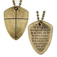 Shield Of Faith Necklace Antique Gold Christian