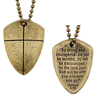 Shield Of Faith Necklace Be Strong Gold