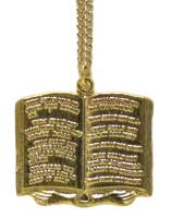 10 Commandments Gold Necklace Jewelry