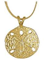 Sand Dollar Necklace Gold