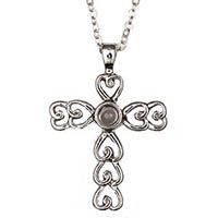 Adult Lord's Prayer Cross Necklace