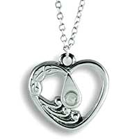 Lord's Prayer Heart Necklace