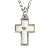 Silver Mustard Seed Cross Necklace