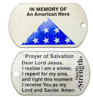 American Fallen Hero Dog Tag Christian