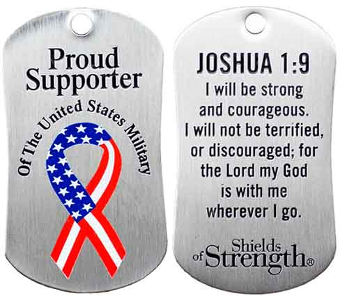 Proud Supporter of US Military Dog Tag