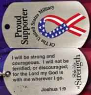 Christian Proud Supporter of US Military Dog Tag