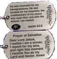 Christian Dog Tag Salvation Isaiah 53:5