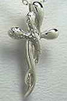 Sterling Twisted Cross Necklace Jewelry