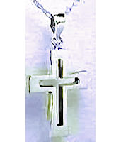 Sterling Silver Outline Cross Necklace