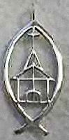 Church in Fish Christian Sterling Silver Necklace