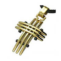 Gold Cross Stainless Steel Pendant