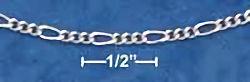 18 inch Sterling Silver Figueroa Chain