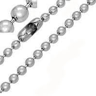 Stainless Steel Beaded Chain 19 Inches