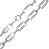 Stainless Steel Geometric Fancy Link Chain