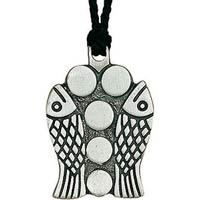 Fish and Loaves Pendant Pewter