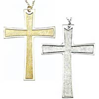 Gold Plated Pectoral Cross pendant