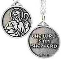 Lord is My Shepherd Pendant pewter
