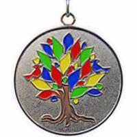 Tree of Life Pendant Colorful Gold Plated