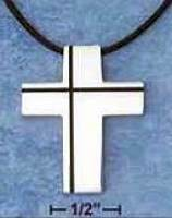Stainless Steel Cross Necklace Modern