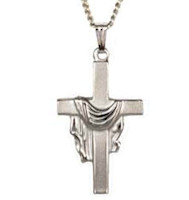 Sterling Silver Cross With Stole Necklace