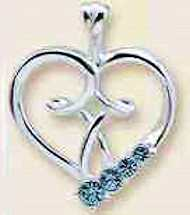 Heart with Cross Necklace with Swarawarski Crystals