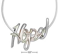 Sterling Silver Hope Slide Necklace