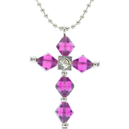 Faith Crystal Cross Necklace