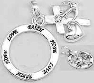 Faith, Hope and Love Charm Necklace