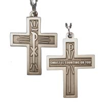 Christ Is Counting On You Retreat Cross Necklace