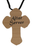 Altar Server Cross Necklace Wood