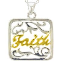 Faith Word Pendant Necklace