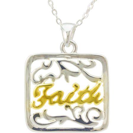 Faith Filigree Pendant Necklace
