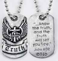 Know the Truth Christian Dog Tag & Chain