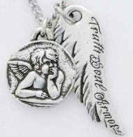 Truth Angel Silver Fashion Necklace