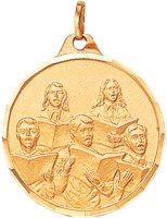 Gold Choir Medallion with Ribbon