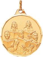 Gold Choir Medallion with Ribbon