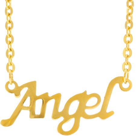 Gold Angel Stainless Steel Necklace