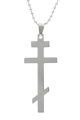 Stainless steel orthodox cross pendant necklace aloadofball Gallery